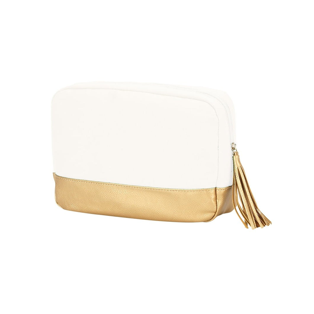 Cabana Gold Cosmetic Dopp Kit Travel Tote - the-southern-magnolia-too