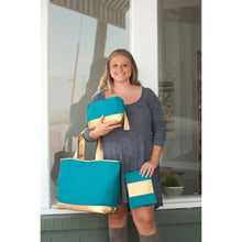 Load image into Gallery viewer, Cabana Gold Cosmetic Dopp Kit Travel Tote - the-southern-magnolia-too