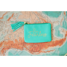 Load image into Gallery viewer, Mint Be Fearless Coin Purse - the-southern-magnolia-too
