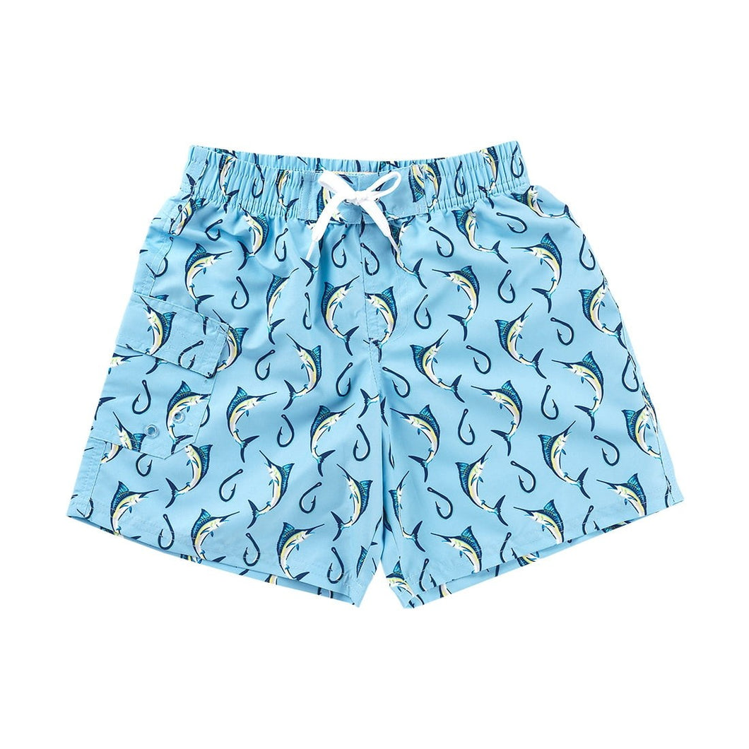 Hooked Boy's or Girl's Swim Trunks Suit Cover Beach Shorts - the-southern-magnolia-too