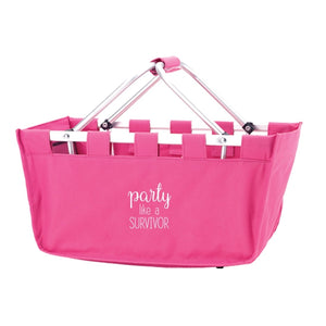 Party Like A Survivor Hot Pink Market Tote - the-southern-magnolia-too