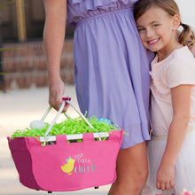 Load image into Gallery viewer, One Cute Chick Hot Pink Mini Easter Market Tote - the-southern-magnolia-too