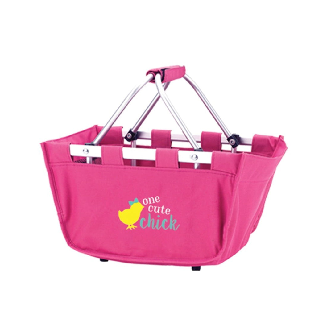One Cute Chick Hot Pink Mini Easter Market Tote - the-southern-magnolia-too