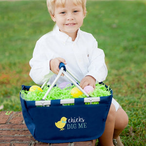 Chicks Dig Me Navy Mini Market Tote - the-southern-magnolia-too