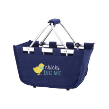 Load image into Gallery viewer, Chicks Dig Me Navy Mini Market Tote - the-southern-magnolia-too