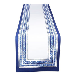 Porto Stripe Printed Table Runner - the-southern-magnolia-too