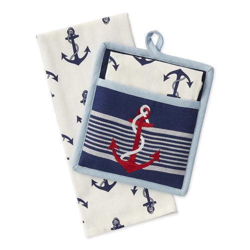 Nautical Anchor Potholder Set - the-southern-magnolia-too