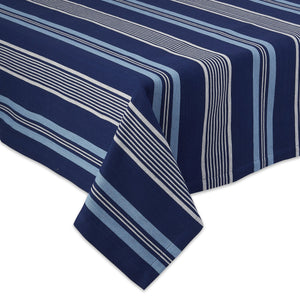 Maritime Stripe Navy Blue Tablecloth - the-southern-magnolia-too