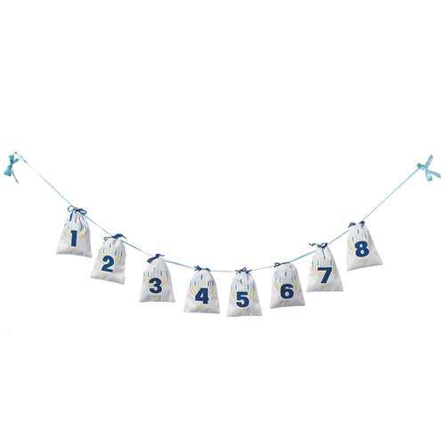 Eight Nights Hanukkah Garland Gift Bags - the-southern-magnolia-too