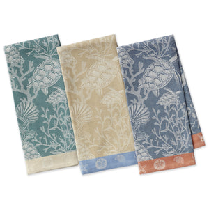 Coral Reef Jacquard Dishtowels Set - the-southern-magnolia-too
