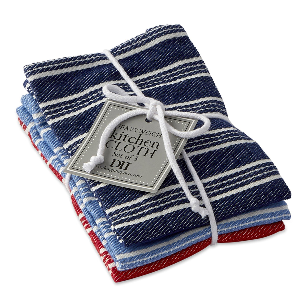 Starboard Stripe Heavyweight Dishcloth Set - the-southern-magnolia-too