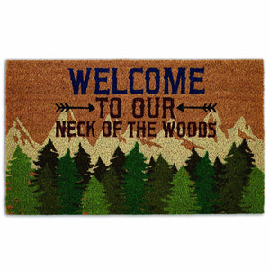 Welcome To Our Neck of the Woods Doormat - the-southern-magnolia-too