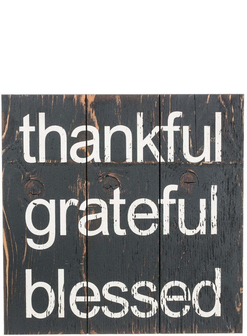 Thankful Grateful Blessed Wall Sign - the-southern-magnolia-too