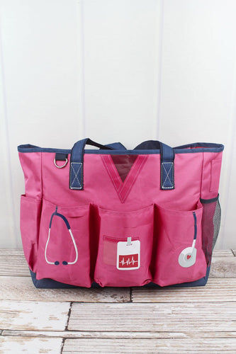 Pink Scrub Organizer Tote Bag - the-southern-magnolia-too
