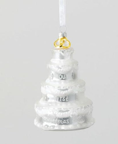 Our First Christmas Wedding Cake Ornament - the-southern-magnolia-too