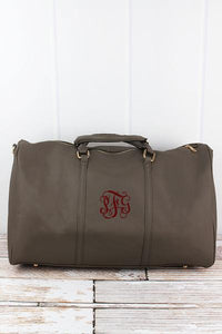 Personalized Vegan Leather Weekender Leather Duffle Bag - the-southern-magnolia-too