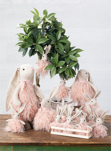 Pink Fluffy Bunny Rabbit Ornament - the-southern-magnolia-too
