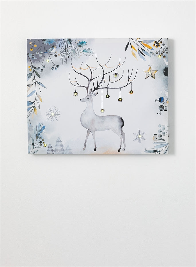 LED Deer Wall Canvas Decor - the-southern-magnolia-too