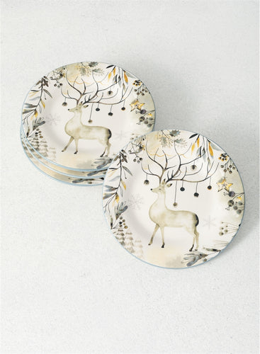 Deer Salad Plate Set - the-southern-magnolia-too