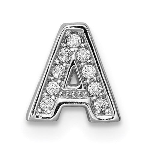 Sterling Silver Notes Cubic Zirconia CZ Alphabet Letter Necklace - the-southern-magnolia-too