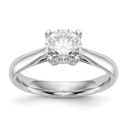White Gold Lab Grown Diamond Solitaire Engagement Ring - the-southern-magnolia-too