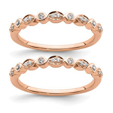 Load image into Gallery viewer, Rose Gold Wedding Rings Set - the-southern-magnolia-too