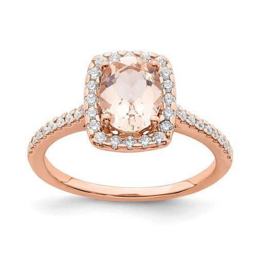 Morganite Engagement Ring - the-southern-magnolia-too