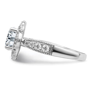 Pure Light Moissanite Engagement Ring - the-southern-magnolia-too