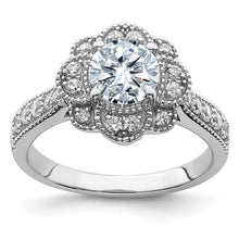 Load image into Gallery viewer, Pure Light Moissanite Engagement Ring - the-southern-magnolia-too
