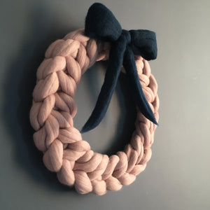 Chunky knit merino wreath