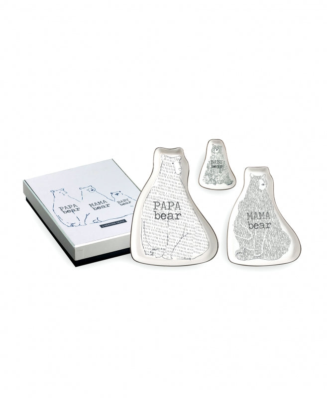 Set de 3 charolas apilables