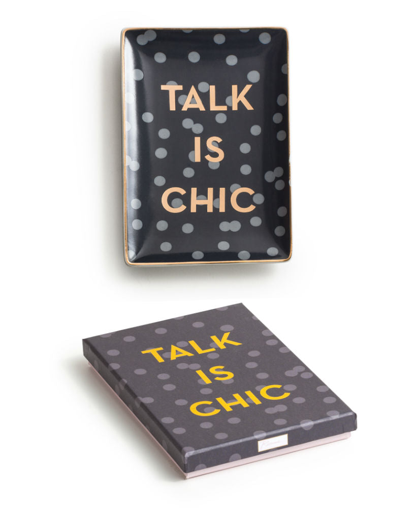 "Charola ""Talk is chic"""
