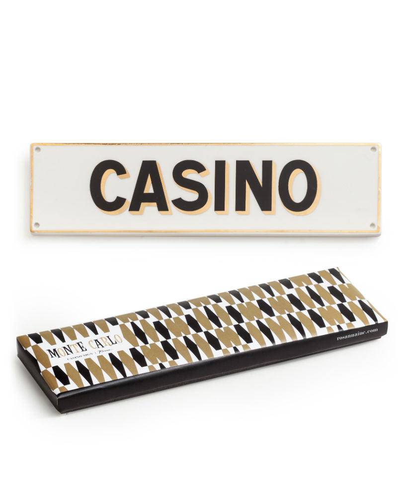 "Placa decorativa ""Casino"""