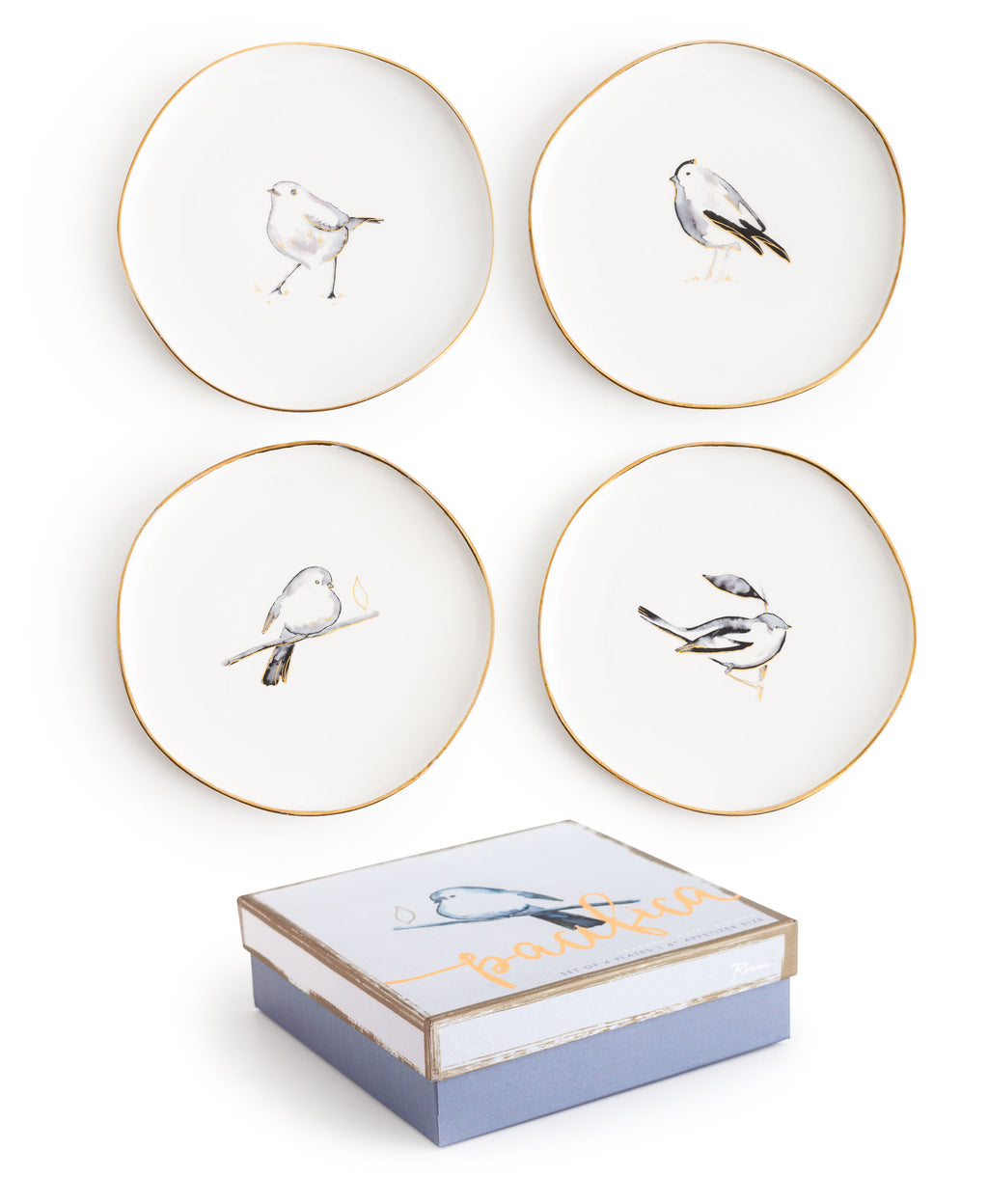 "Set de 4 platos ""BIRD"""