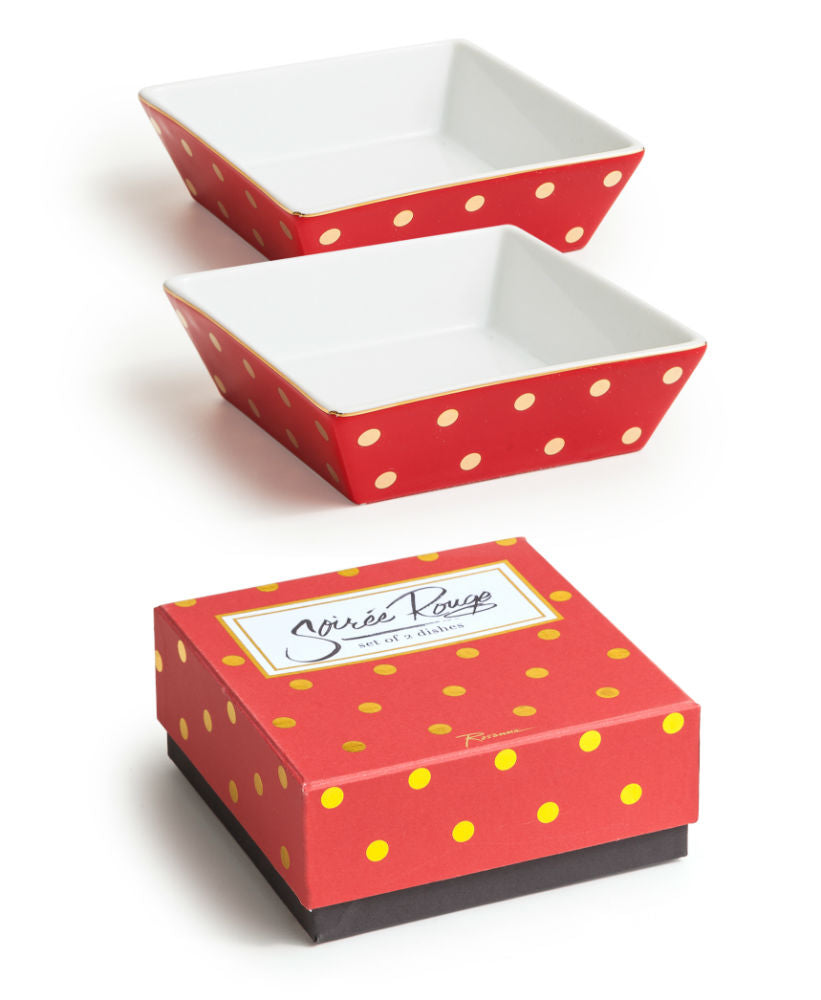 "Set de 2 charolas apilables ""RED DOT"""