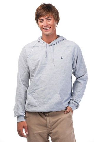 Heather Gray Signature Embroidered Fleece Hoodie - Unisex