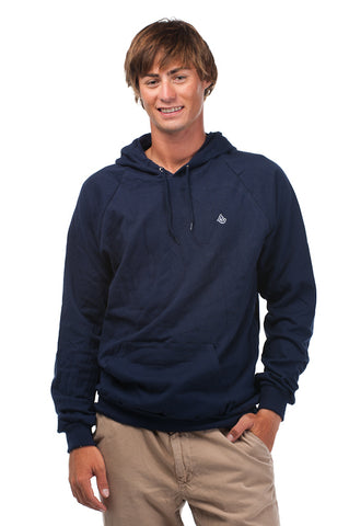 Navy Signature Embroidered Fleece Hoodie