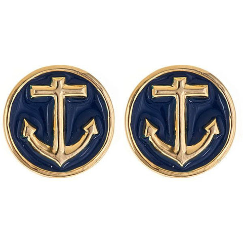 Enamel Anchor Earrings