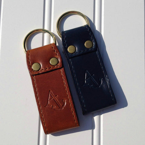 Leather Embossed Key Fobs
