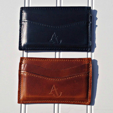 Leather Embossed Card Case/Wallet