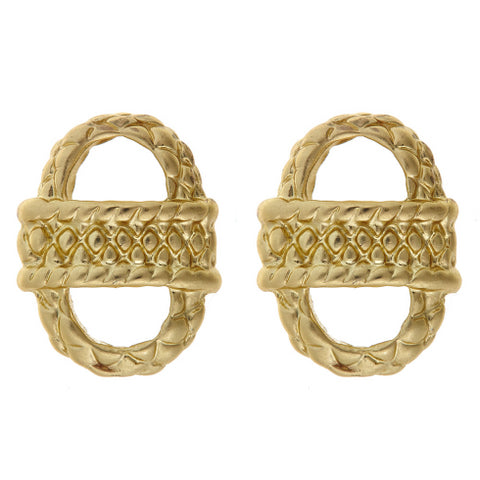 Small basket earrings in gold