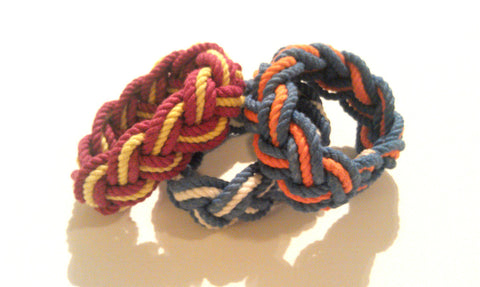 Stripe Sailor Knot Bracelets