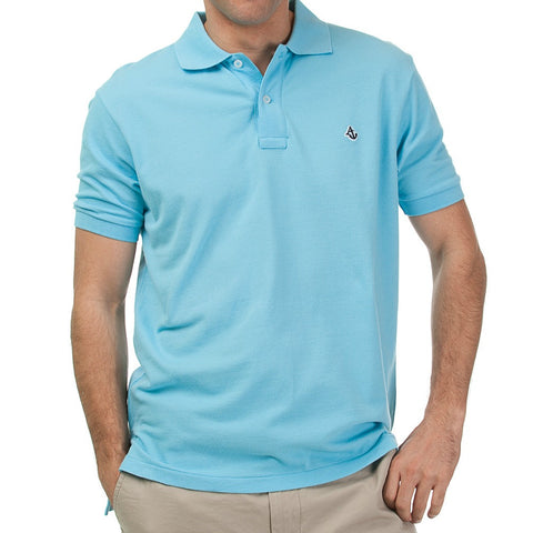 Caribbean Blue Men's Polo Shirt