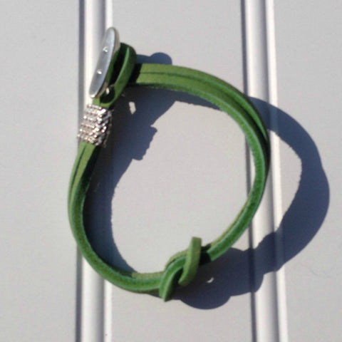 green boat shoe lace bracelet