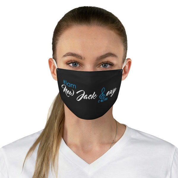 i am New Jack Sexy Face Mask Black with White/Blue