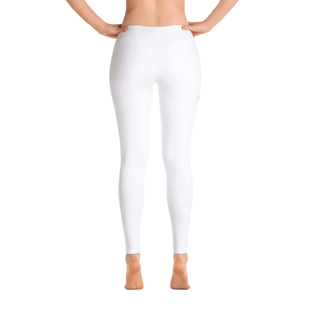 i am New Jack Sexy Leggings Womens (White with Pink Letters) - I Am New Jack Sexy
