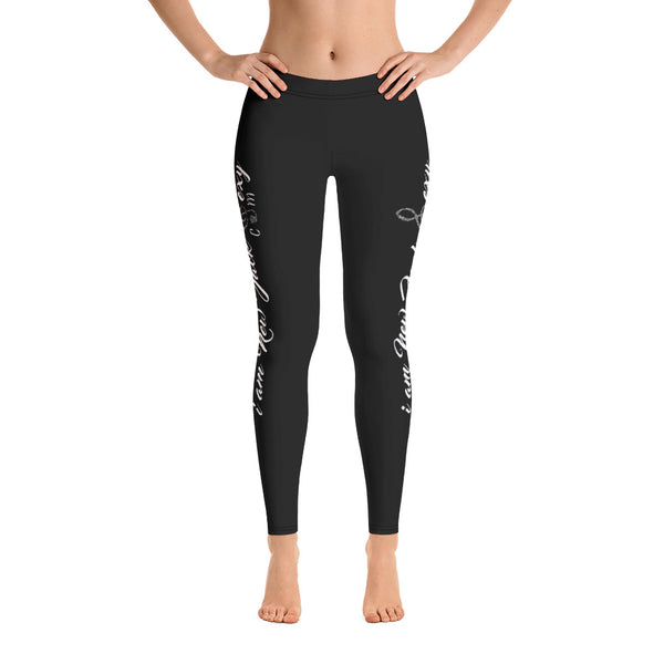 i am New Jack Sexy Leggings  Womens (Black with White Letters) - I Am New Jack Sexy