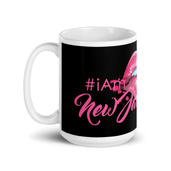 i am New Jack Sexy Mug Cup | Black Pink Lipz