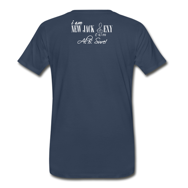 Juneteenth Fist  Heart Premium T-Shirt **LIMITED** - navy