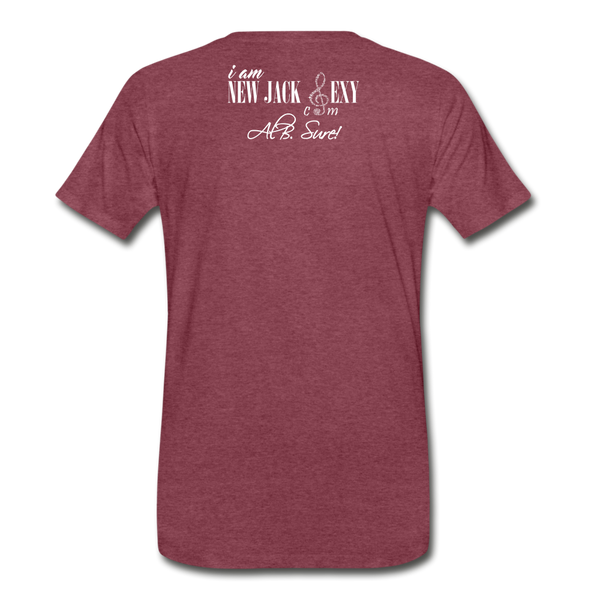 Juneteenth Fist  Heart Premium T-Shirt **LIMITED** - heather burgundy